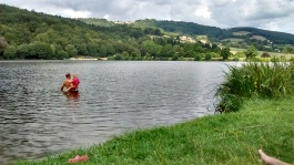Burgundy region lake swimming wild swimming