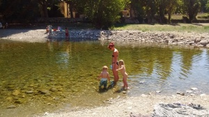 River swiming Languedoc region. South of France wild swimming