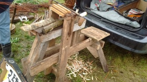shave horse green woodworking rural crafts